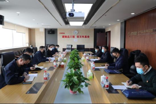 集团党委组织部、宣传部到5楼直播公司开展疫情防控和  复工复产工作调研